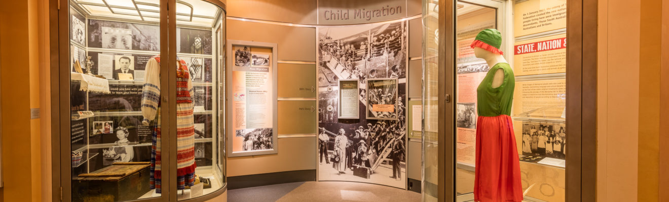 Image of museum display about 20th Century migration